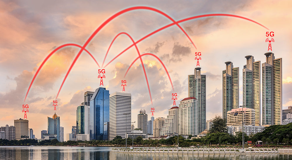 Concept of a smart city using 5G Internet of Things (IoT) applications