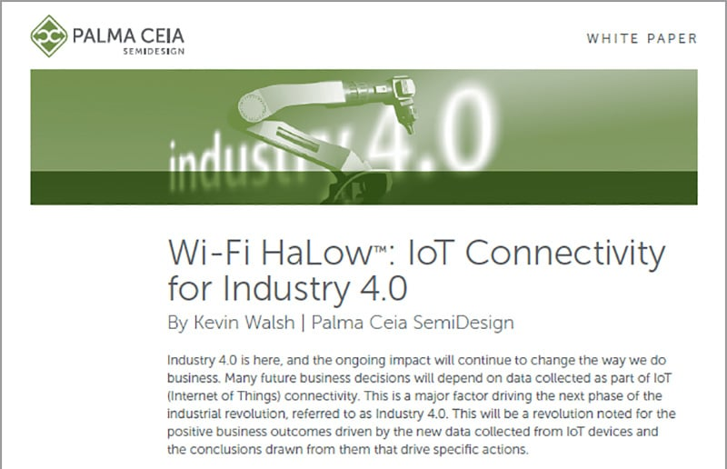 Industry 4.0 HaLow Connectivity White Paper